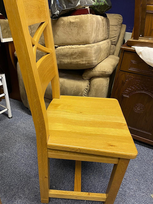 Two Spectacular Oak Dining Chairs