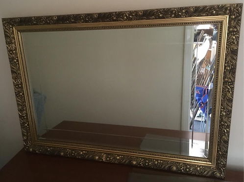 Gold Framed Bevelled Mirror