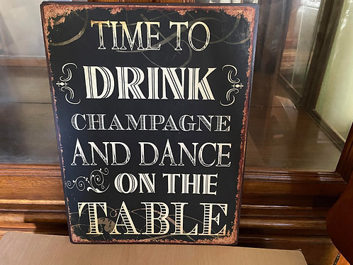 Time To Drink Decorative Garden Sign