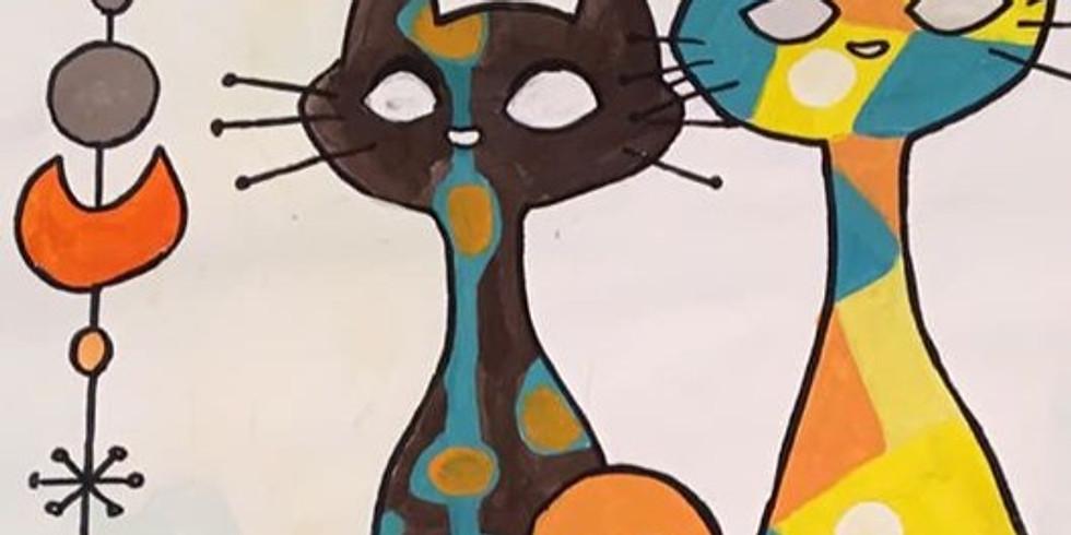 WEEK 7: CATS, CATS, CATS! An Art Factory original... Epic cat-inspired projects all week long!