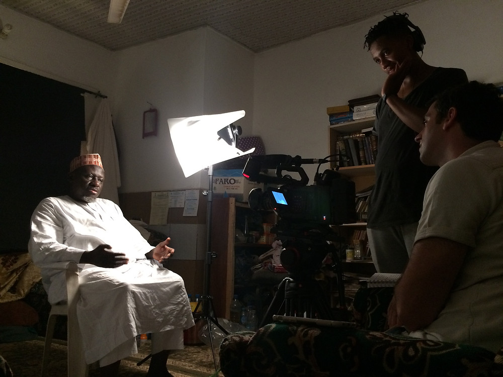 Imam Khalid, of Badr Mosque, during an interview session.