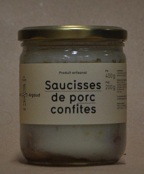 Saucisses.Porc.Confites