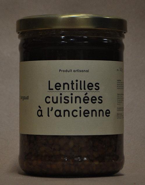 Lentilles.Cuisinées.Grand Bocal