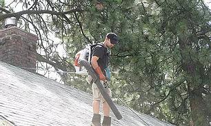 Roof Debris Blown