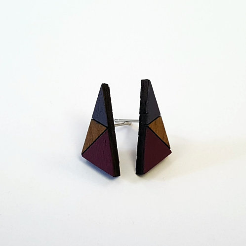 Geometric Triangle Earrings Small - Heather & Plum