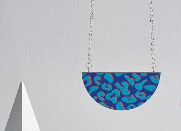 Donna Half Moon Necklace Blue