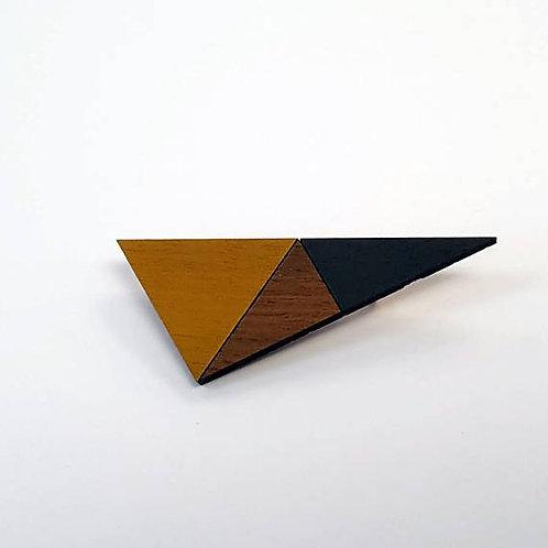 Geometric Triangle Brooch