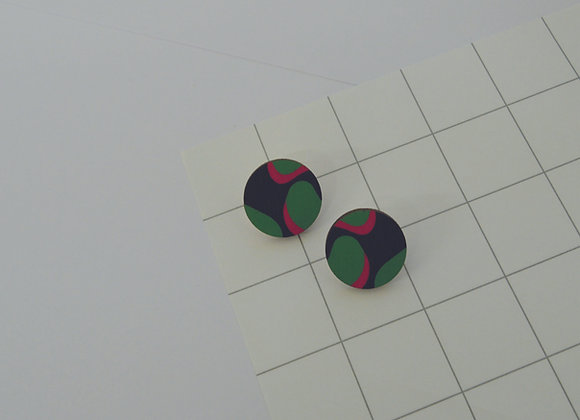 Grace Stud Earrings in Green