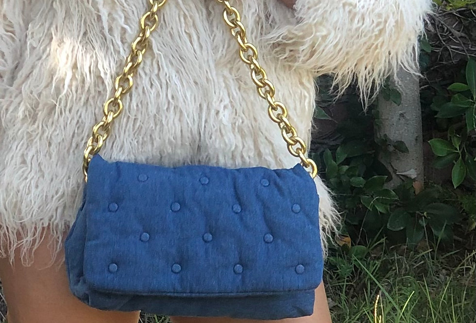 JE Pretty Plush Denim Handbag