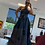 Thumbnail: The Draped Denim Convertible Maxi