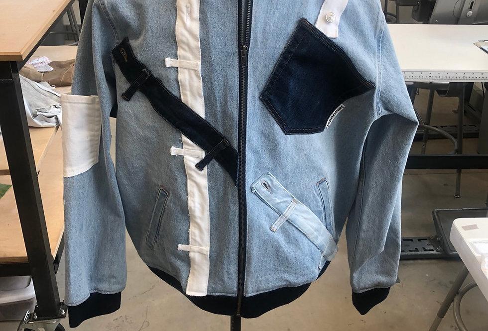 His Denim Bomber Jacket