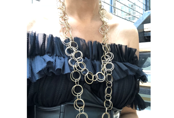 Beautiful Bubbles Lady Long Necklace