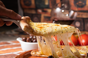 Pizza de mussarela pizzaria La Pietá