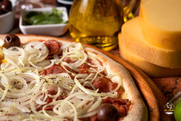 Pizza de calabresa pizzaria La Pietá