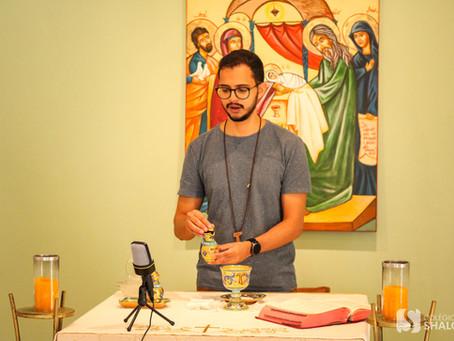 Alunos do Colégio Shalom participam de retiro online em preparação para a Primeira Eucaristia