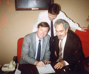 1987. Πρωτη συναντηση με τον Αλεξ Φεργκιουσον στην παρουσια του Μπαρρυ Μουρχαουζ