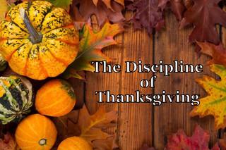 TheDiscipline ofThanksgiving