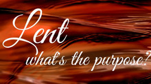 Lent - Purpose