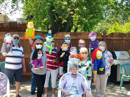 6-7-20 Puppets at Patty and Bob Lazarzs