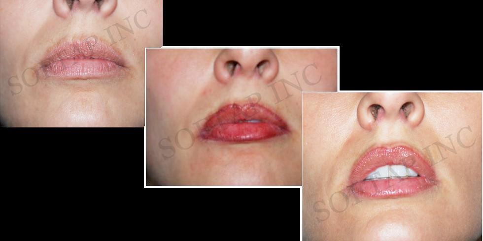 2 days Microblading Lips  Permanent Makeup $2,850