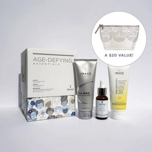 AGE-DEFYING ESSENTIALS WITH FREE GIFT BAG