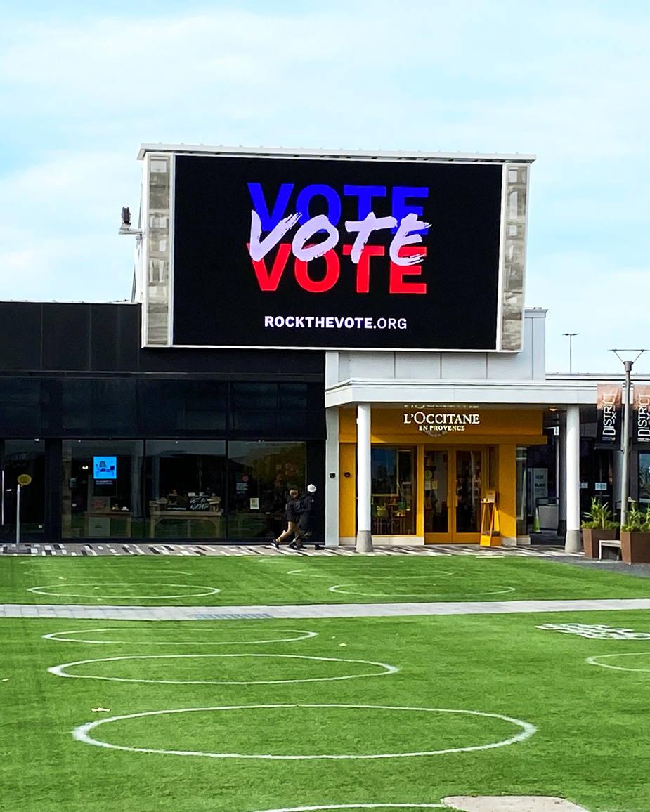 Branding  Rock the Vote - Oakbrook Center Digital Ad