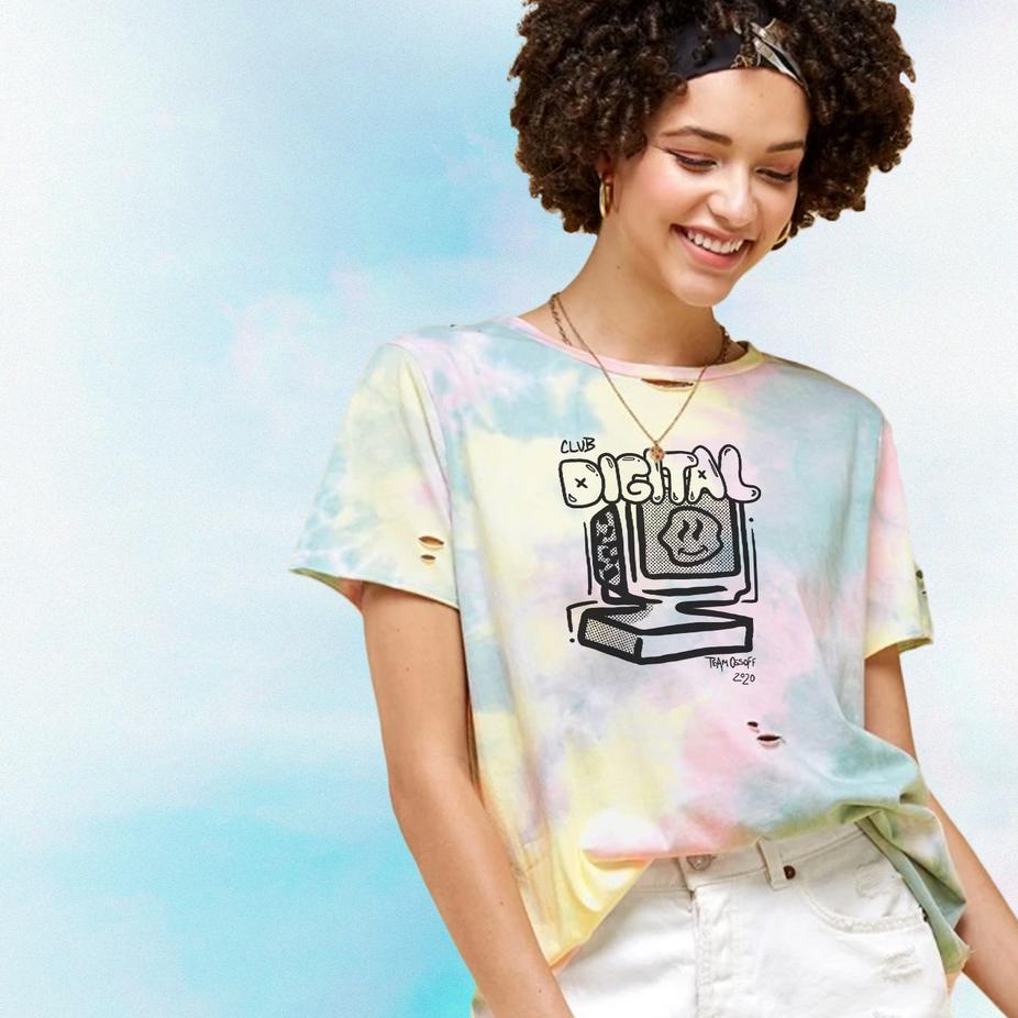 Ossoff Digital Shirt  Art Direction  Illustrator + Designer:  Heather Ellis