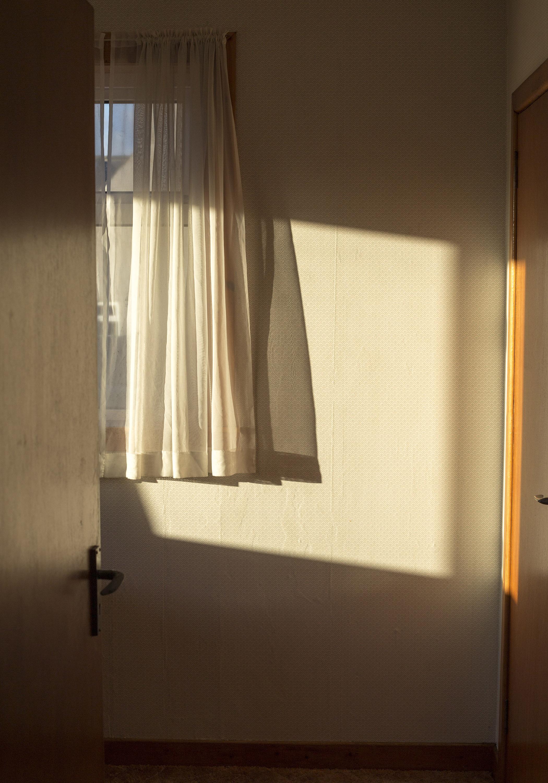Evening Sunlight on 70s Wallpaper