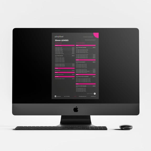 Digital interactive PDF price list