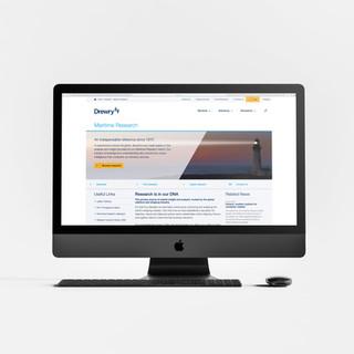 Website informed by brand guidelines