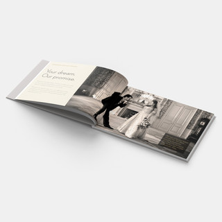 Wedding brochure double page spread