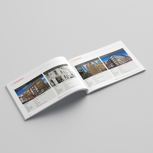 Double page spread from property management pitch