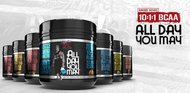 5 Percent nutrition All day you may BCAA