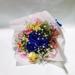 青バラの花束 ツボイフローリスト