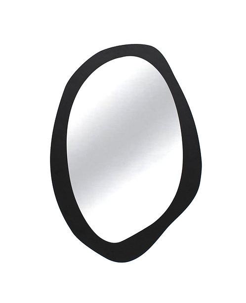Spiegel Oval Iron Matt Black