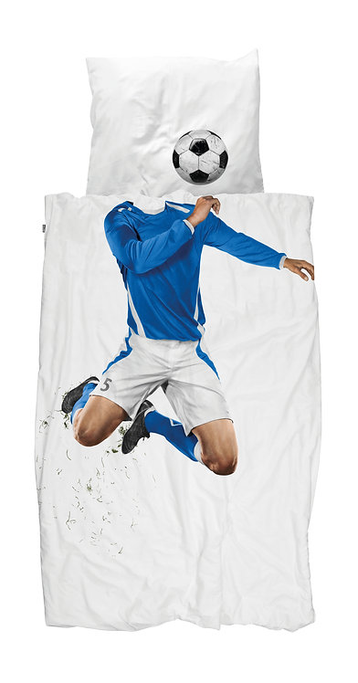Dekbedovertrek Soccer Champ Blue
