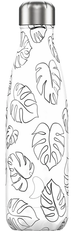 Drinkfles Leaves Line Art