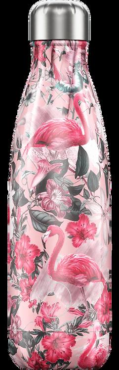 Drinkfles Flamingo Tropical