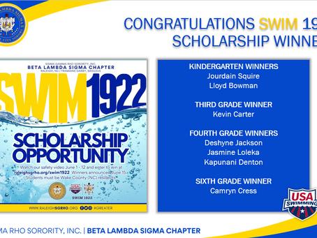 Congratulations Swim 1922 Winners!