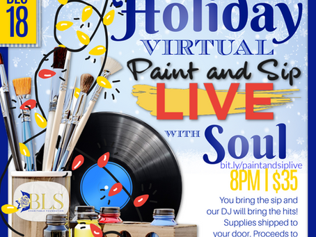 Holiday Virtual Paint and Sip Live with Soul