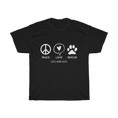 PEACE LOVE RESCUE / BLACK