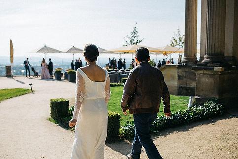 Hochzeit in Dresden - Sektempfang am Lingnerschloss