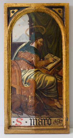 Holztafel mit dem Hl. Markus