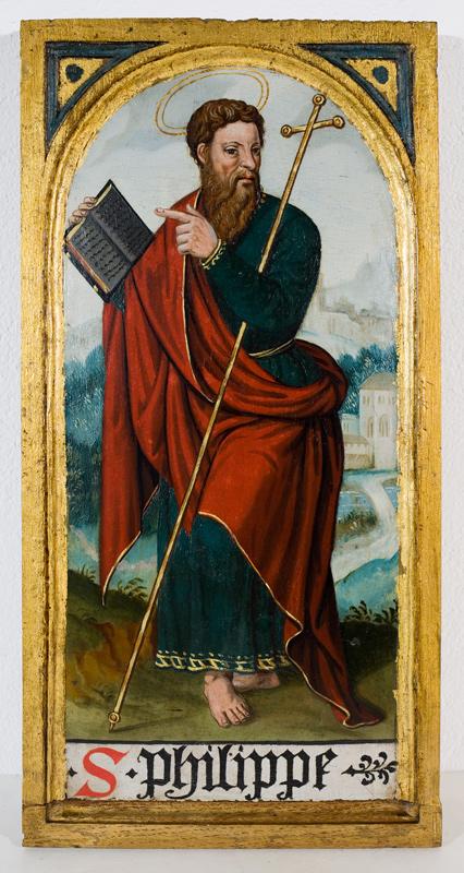 Holztafel mit dem Hl. Philippus