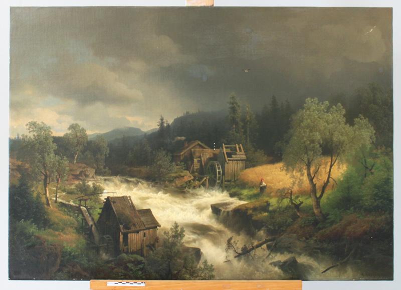 Landschaftsgemälde v. Hermann Herzog