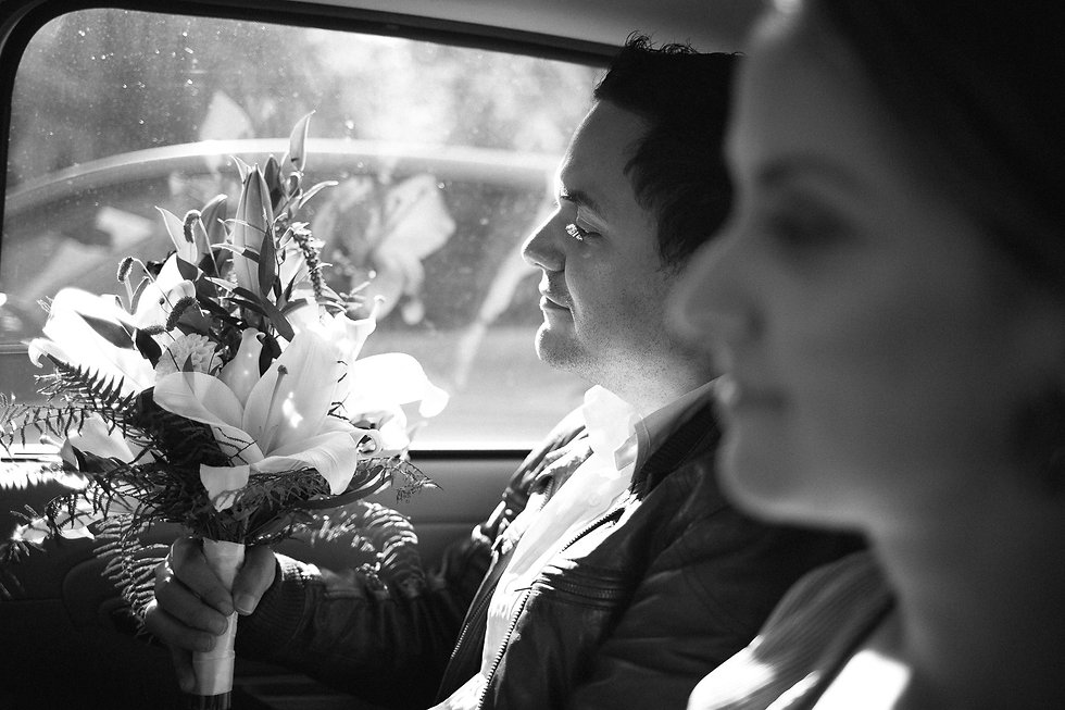 Hochzeit in Dresden - Fahrt im Hochzeitsauto