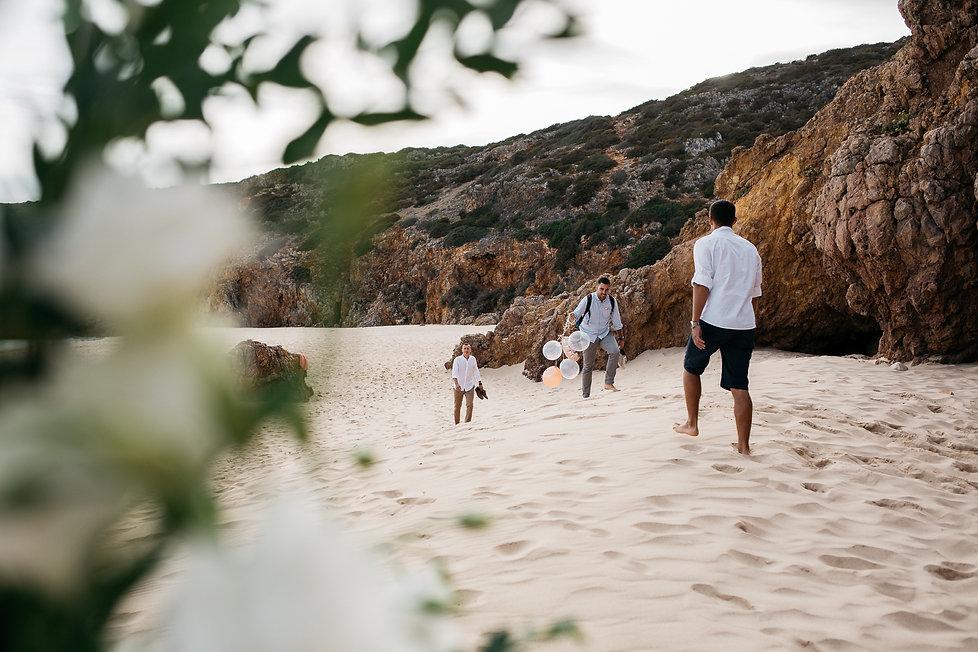 wedding Hochzeit Portugal Algarve Praia das Funas Hochzeitsreportage Strandhochzeit