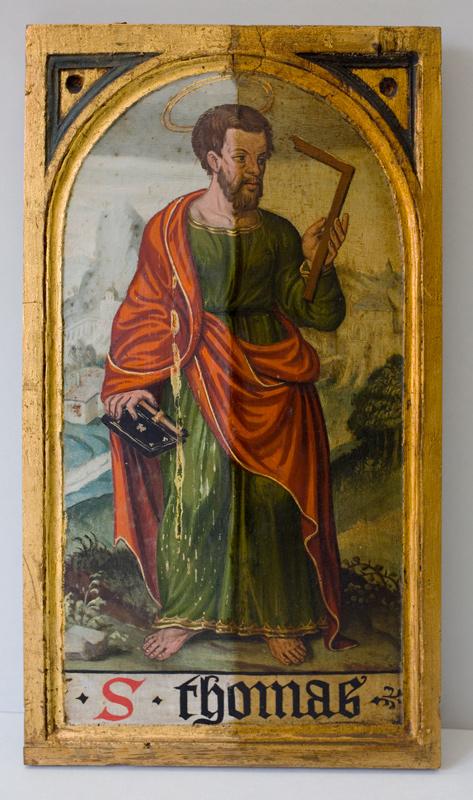 Holztafel mit dem Hl. Thomas
