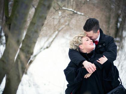 winter-wedding in the snow white Johannapark