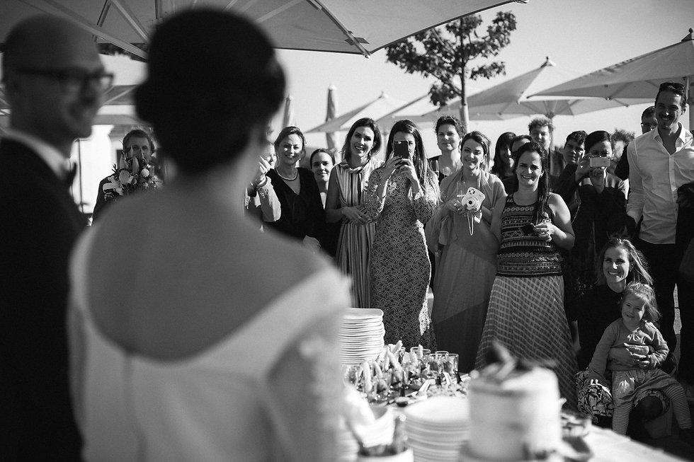 Hochzeit in Dresden am Weinberg - Hochzeitstorte, Wein und Kaffee am Lingnerschloss